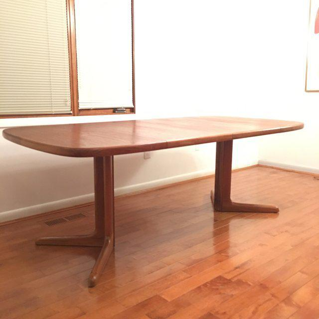 Expandable Mid-Century Danish Teak Dining Table by Niels O. Moller for Gudme Mobelfabrik For Sale - Image 10 of 11