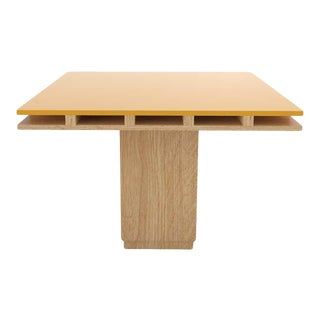 Contemporary 101C Dining Table in Oak and Yellow by Orphan Work, 2019 For Sale