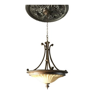 Brass & Wrought Iron Chandelier