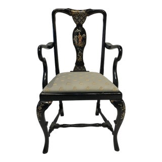 Chinoiserie Chic Arm Chair For Sale