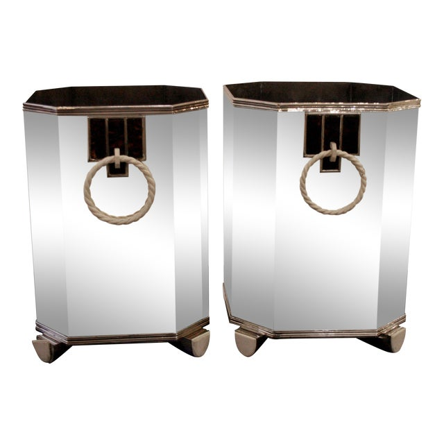 Pair Of French Art Deco (C. 1920's) Sterling Silver Wine Coolers For Sale
