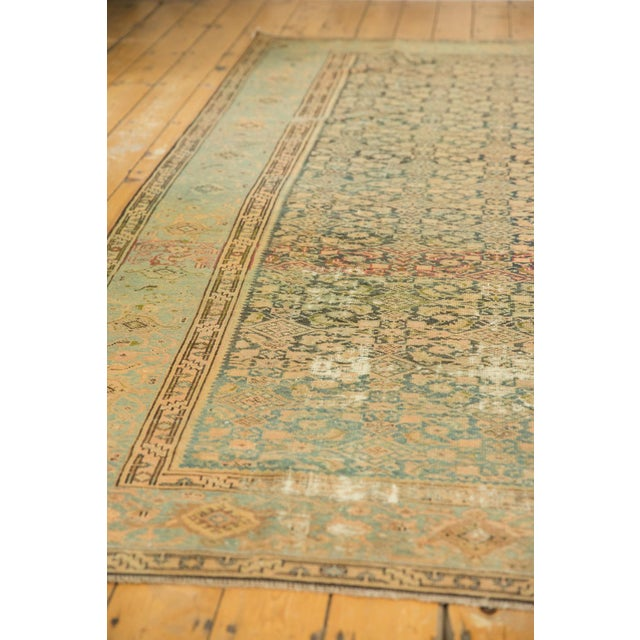 "1920s Vintage Distressed Malayer Carpet - 7' X 10'2"" For Sale - Image 5 of 13"