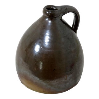 Antique American Stoneware Half Gallon Moonshine Jug For Sale