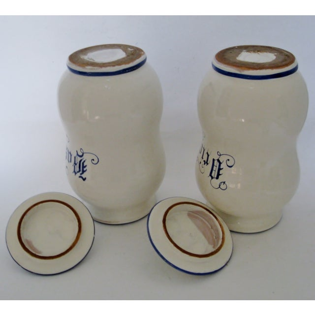 Ceramic Kitchen Canisters - A Pair For Sale In Los Angeles - Image 6 of 6