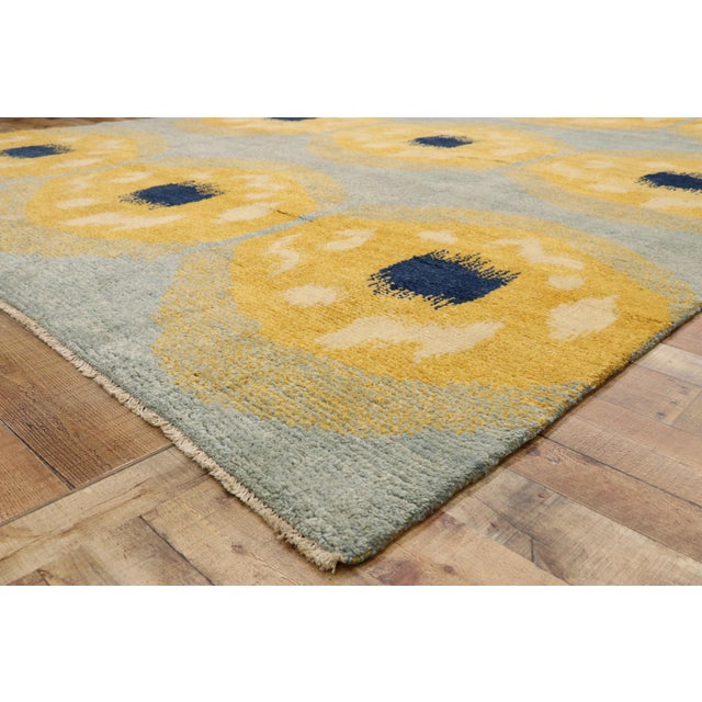 Contemporary Moroccan Rug With Concentric Circles - 10'02 X 13'09 For Sale In Dallas - Image 6 of 10