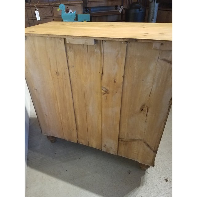 Antique Pine Chest of Drawers With Brass Handles For Sale - Image 6 of 13