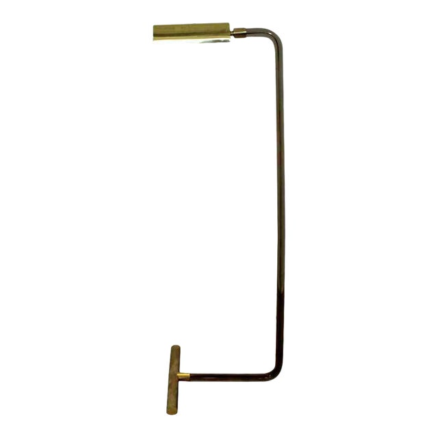 Mid Century Modern Peter Hamburger Kovacs Crylicord Lucite Brass Floor Lamp 70s For Sale