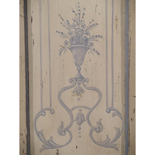 Blue and White Painted Antique Door From Lombardy, Italy Circa 1850 For Sale - Image 10 of 13