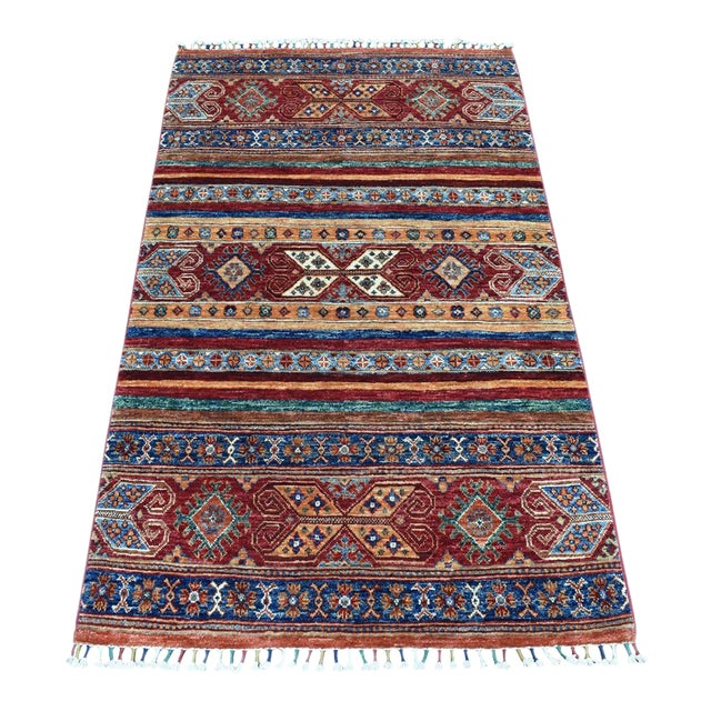 Khorjin Design Colorful Kazak Pure Wool Hand Knotted Rug For Sale