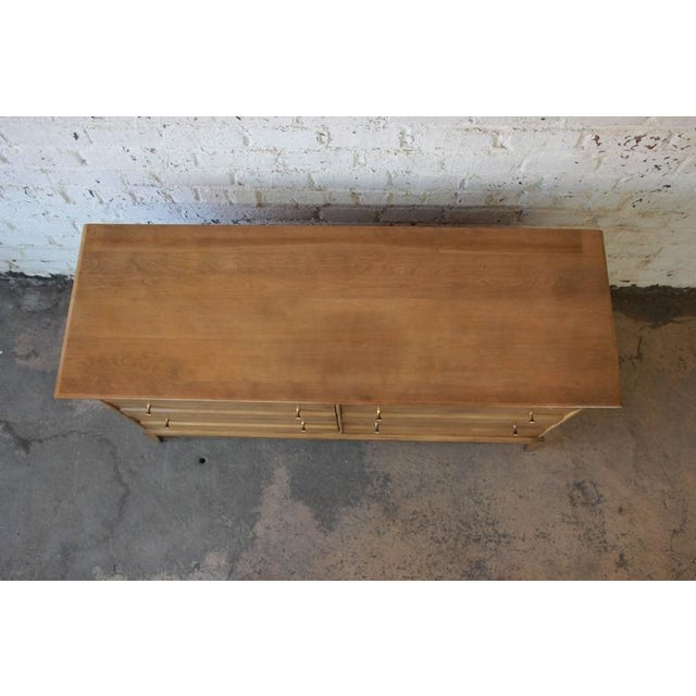 Wood 1957 Vintage Heywood Wakefield Mid-Century Cadence 6 Drawer Dresser & Mirror For Sale - Image 7 of 10