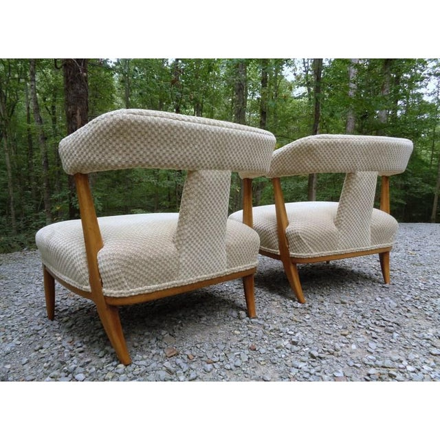 Mid Century Tomlinson Sophisticate Slipper Chairs ~ a Pair For Sale - Image 10 of 13