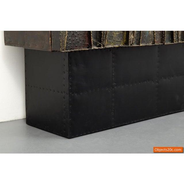Brutalist Vintage Mid-Century Paul Evans Deep Relief Cabinet For Sale - Image 3 of 11