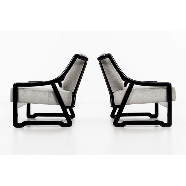 Mid-Century Modern Pair of Paul Laszlo Attributed Lounge Chairs For Sale - Image 3 of 10