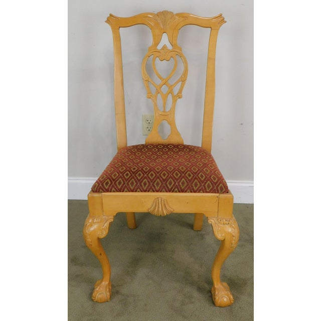 Lexington Solid Pine Chippendale Style Ball & Claw Carved Pair Side Chairs For Sale In Philadelphia - Image 6 of 13