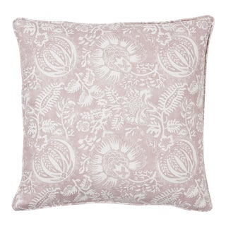 Schumacher Pomegranate Print Pillow in Petal For Sale