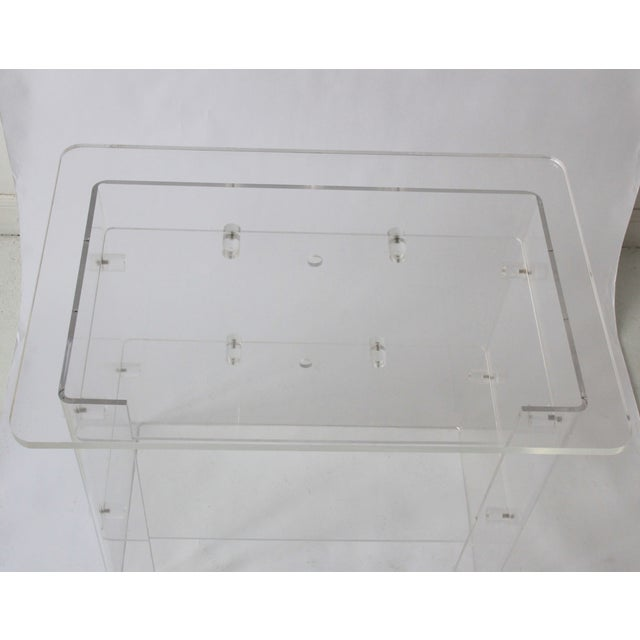 Vintage Lucite Media Console / Bar - Image 8 of 8