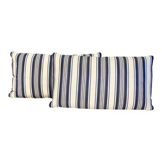 Striped Decorative Lumbar Pillow For Sale
