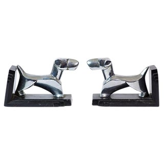 Art Deco Fox Terrier Bookends - a Pair