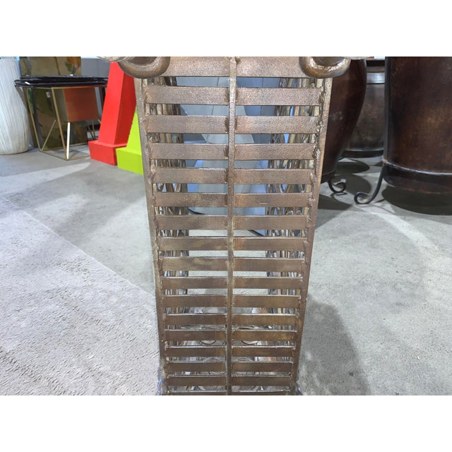 1960s Regency Style Bronzed Magazine Rack With Scrolled Design Lion Supports For Sale In Las Vegas - Image 6 of 11