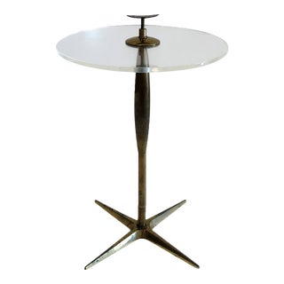 Brass & Lucite Cigarette Table by Stiffel 1950's