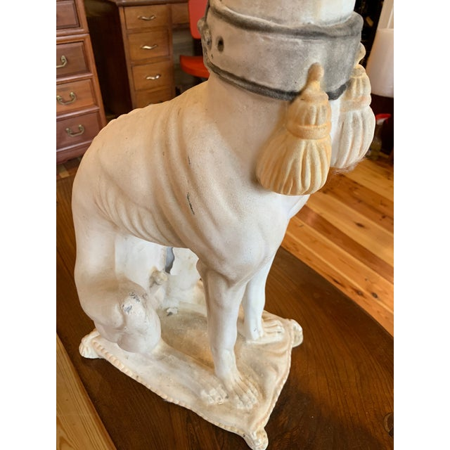 1950s Vintage Italian Whippet Statue For Sale - Image 4 of 10