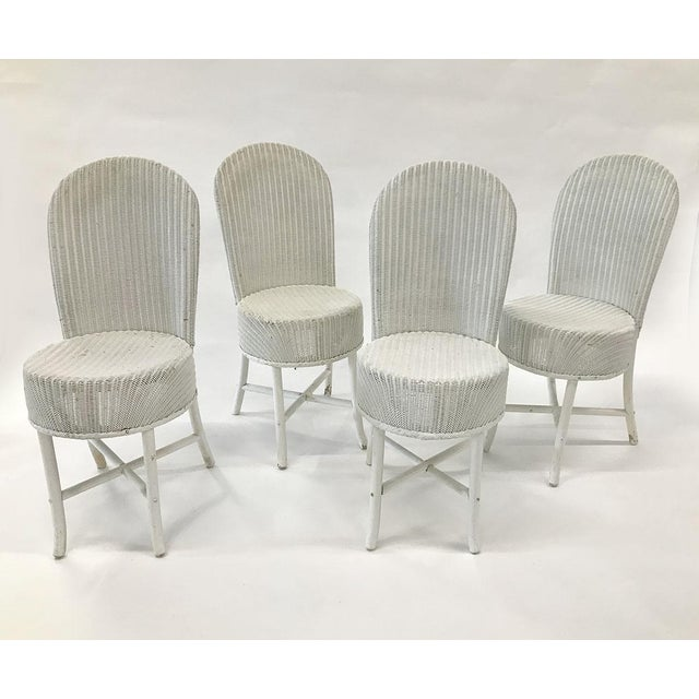 1950s 1950s Woven Lloyd Loom Chairs — Set of 4 For Sale - Image 5 of 12