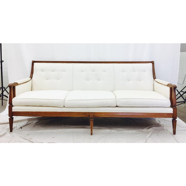 Vintage Mid-Century Tufted Button Back Sofa - Image 2 of 7