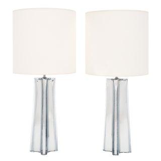 """""""Quadrifoglio"""" Mercury Glass Murano Lamps For Sale"""