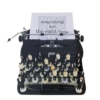 "Nina Bentley ""Searching for the Right Type"" Typewriter Limited Edition Photograph, Framed For Sale"