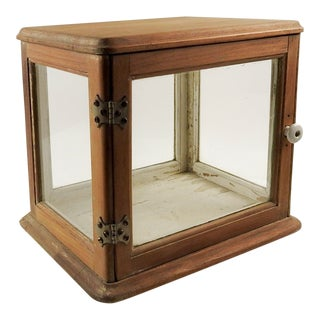 Vintage Tabletop Display Case Curio Cabinet For Sale