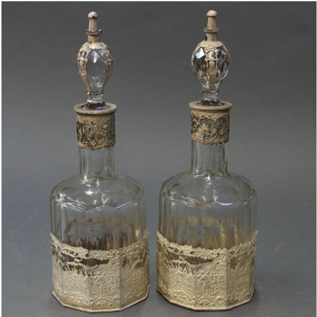 Continental Crystal Decanters - A Pair - Image 2 of 4