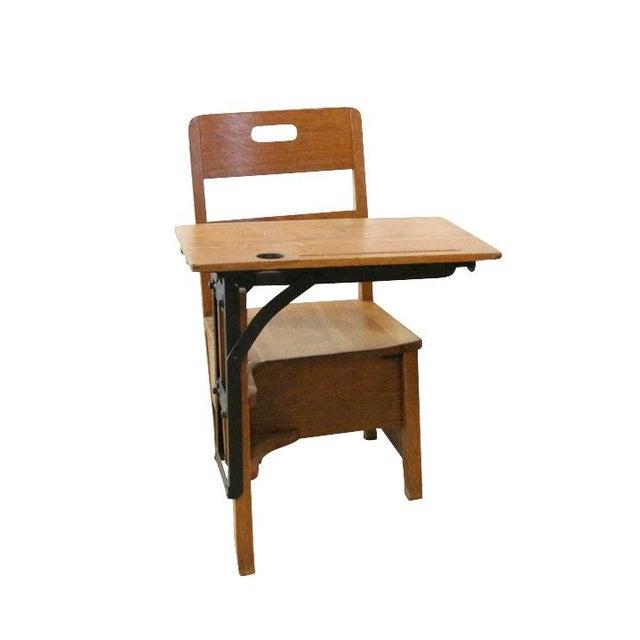 1900s Sliding Top School Desk - Image 3 of 7