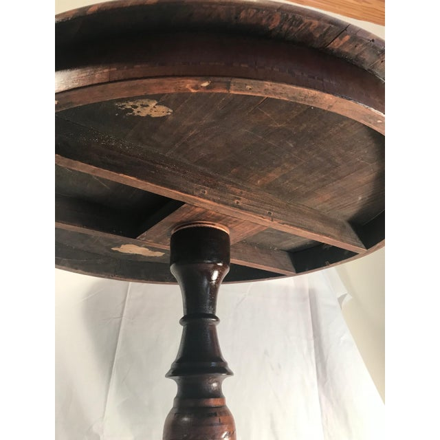 19th Century Italian Marquetry Pedestal Center Table For Sale - Image 12 of 13