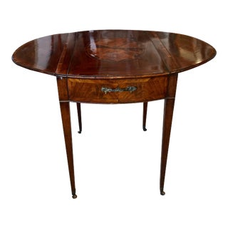 1790s Georgian Mahogany Pembroke Games Table For Sale