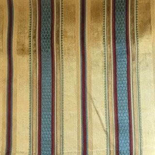 7 Yards Lee Jofa Cut Velvet Prince Regent Striped Fabric For Sale