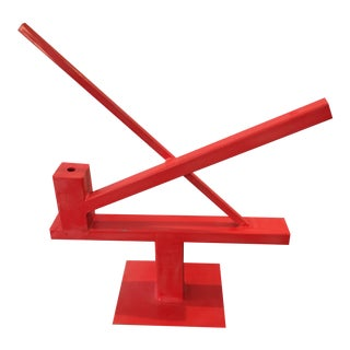 Large Abstract Red Sculpture