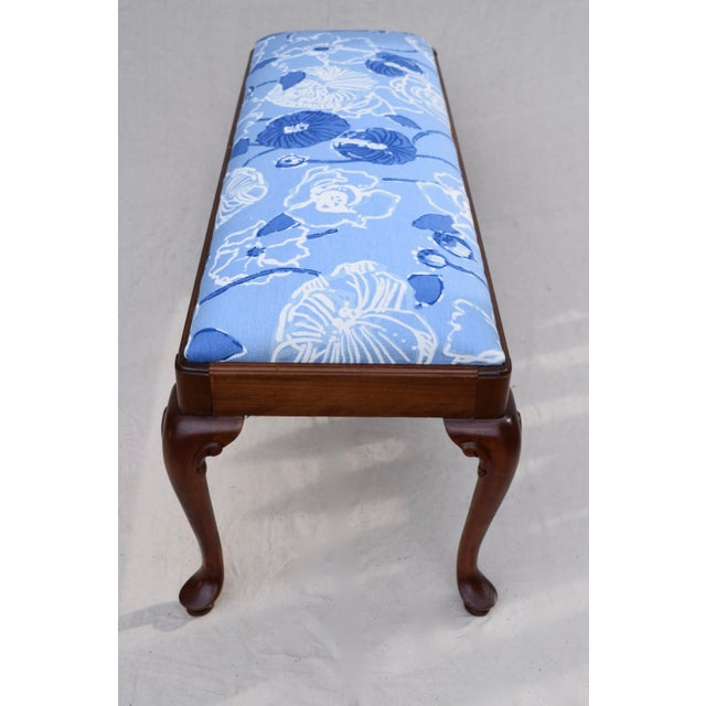Blue Queen Anne Bench by Century For Sale - Image 8 of 11