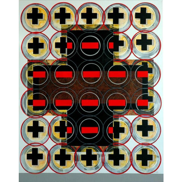 """Aric Frons """"Plus Minus No. 2"""", 2006 acrylic on canvas 60 x 48 inches $6000 About the artist: Israeli born artist Aric..."""