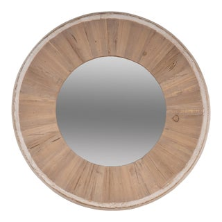 Circular Wood Mirror, Small For Sale