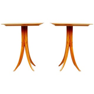 Giuseppe Scapinelli Caviuna Wood Sculptural Side Tables, Brazil, Circa 1955