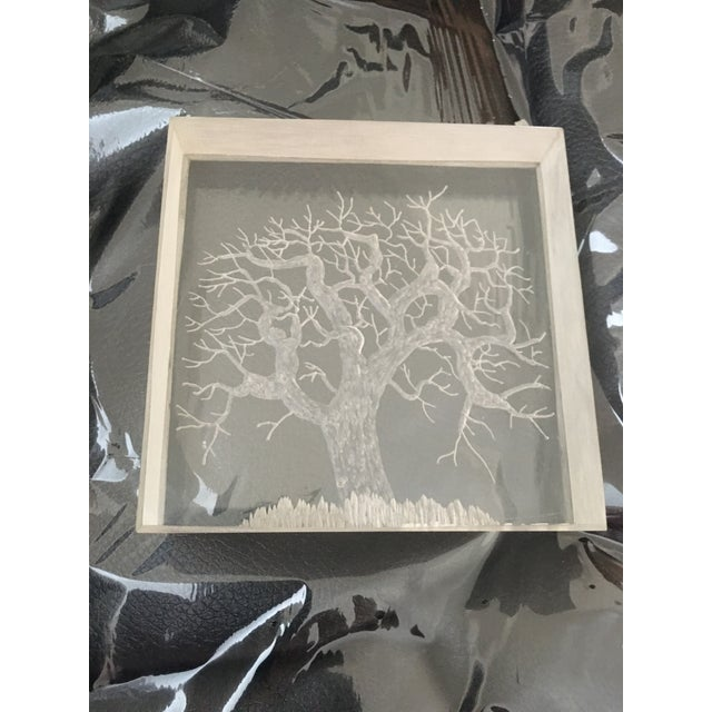 Mid-Century Hand Etched Acrylic Cube For Sale In New York - Image 6 of 6