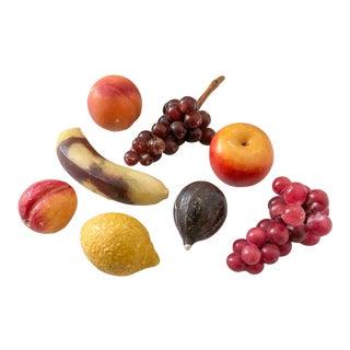 Italian Marble Fruit, Set of 8 For Sale