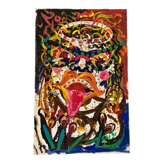 Hendrik Grise Mid Century Abstract Expressionism Vintage California Face Figure For Sale