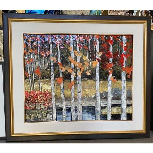 "Traditional ""Le Rideau D'Arbres"" Oil Painting by Richard Riverin For Sale - Image 3 of 4"