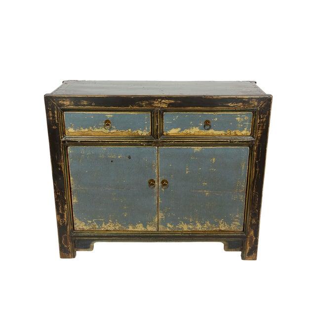 Gansu-Style Blue Antique Cabinet - Image 1 of 5