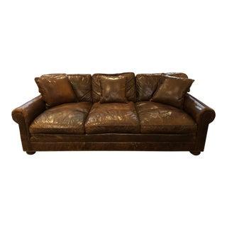 Restoration Hardware Lancaster Sofa Luxe Depth Brompton Cocoa Leather