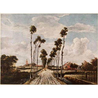 """1950s First Edition """"The Avenue of Middelharnis"""" Vintage Lithograph by M.Hobbema For Sale"""