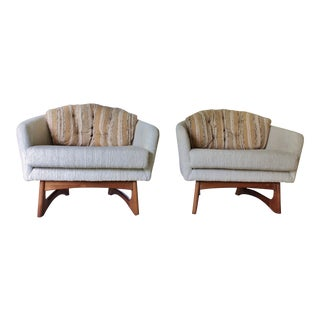 Adrian Pearsall for Craft Associates Mid-Century Lounge Chairs - a Pair