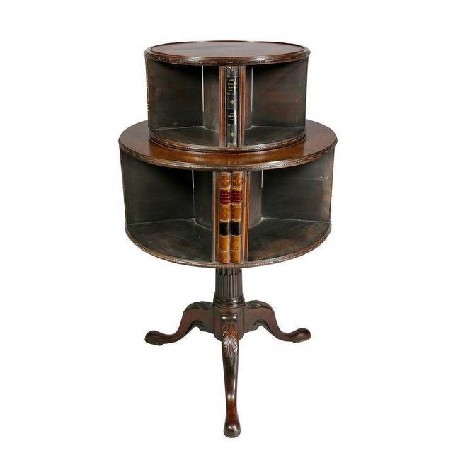 Mid 19th Century George III Style Mahogany Revolving Bookstand For Sale - Image 5 of 9