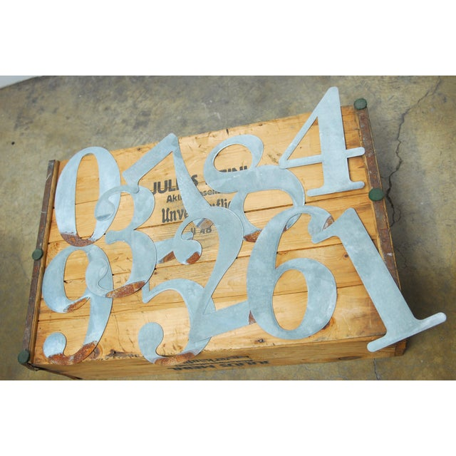 Urban farmhouse chic set of 10 cut metal rusty numbers. Each unique and different. These are so fun for house numbers. The...